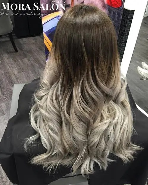 Peachy 40 Glamorous Ash Blonde And Silver Ombre Hairstyles Hairstyles For Women Draintrainus