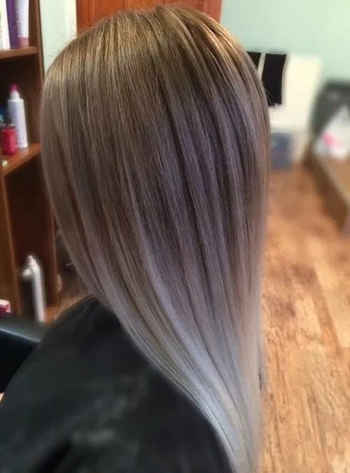 Cool 40 Glamorous Ash Blonde And Silver Ombre Hairstyles Hairstyles For Women Draintrainus