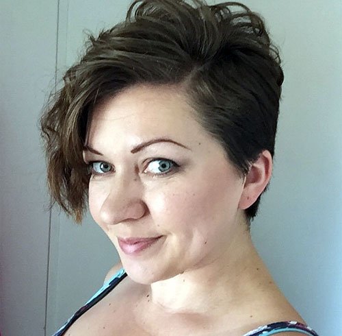 side-parted pixie with long bangs