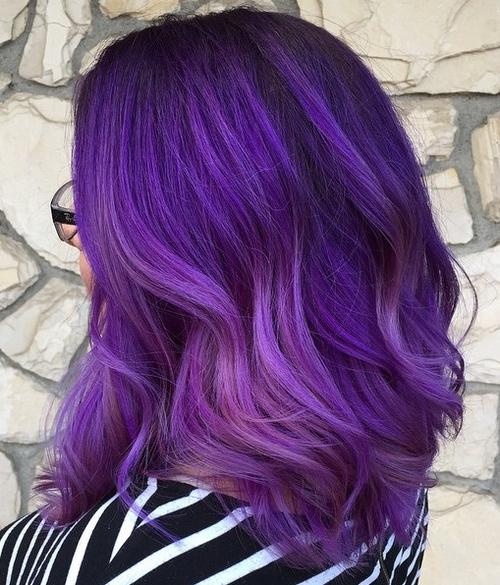 Superb Purple Balayage Hair Nice Design