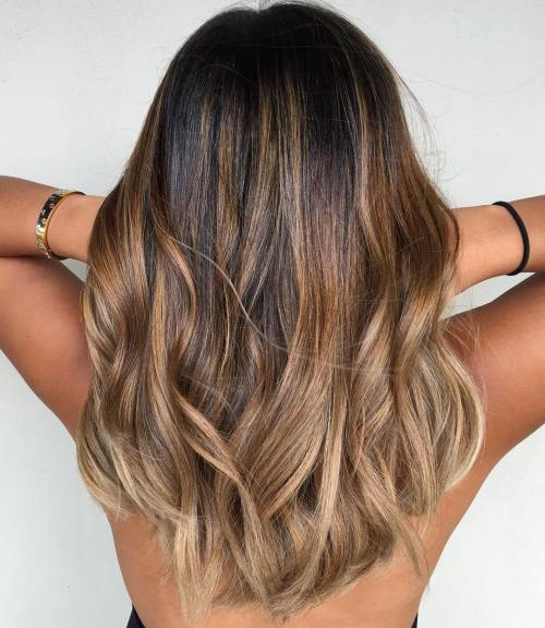90 balayage hair color ideas with blonde brown and caramel highlights caramel and ash blonde balayage for brown hair pmusecretfo Gallery