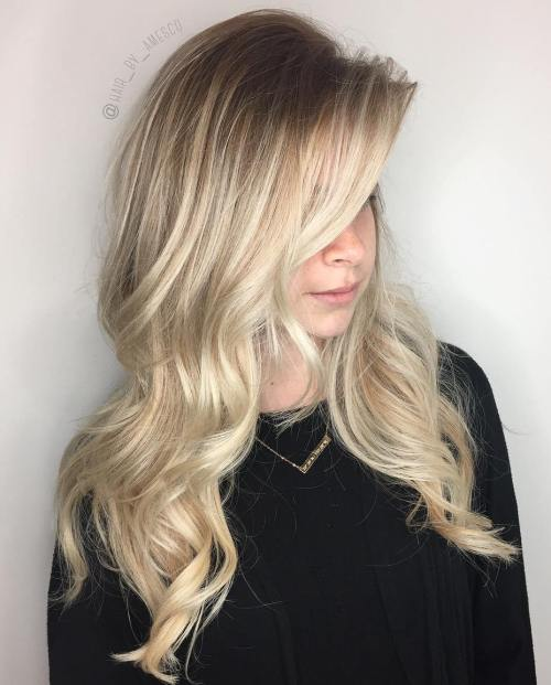 Long Layered Blonde Balayage Hair