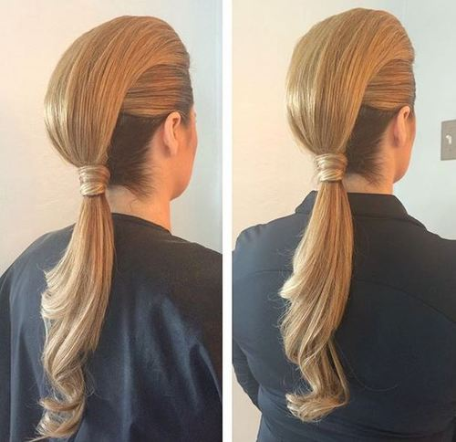 low ponytail faux hawk hairstyle