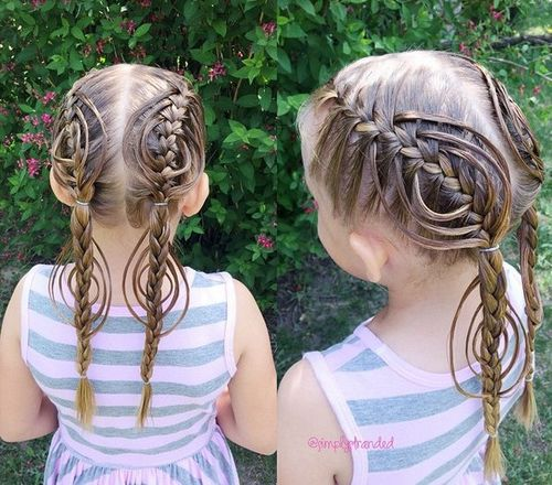 fancy braided fishtails for girls