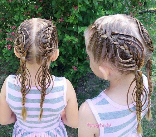 fancy braided fishtails for girls