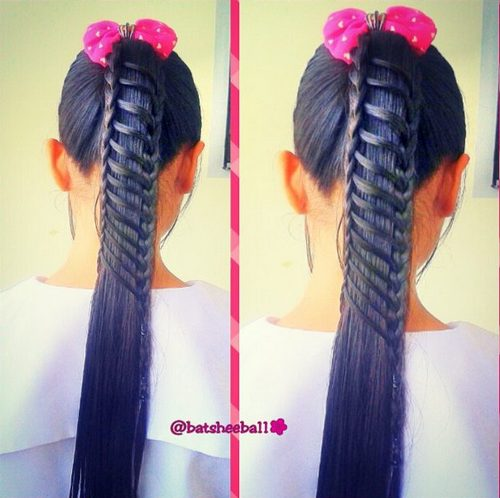 braided pony hairstyle for girls