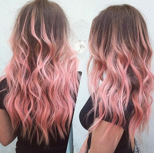 40 pink hair ideas unboring pink hairstyles to try in 2018 brown hair with pastel pink ombre highlights solutioingenieria Images
