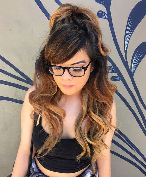 40 easy and chic half ponytails for straight wavy and curly hair urmus Choice Image