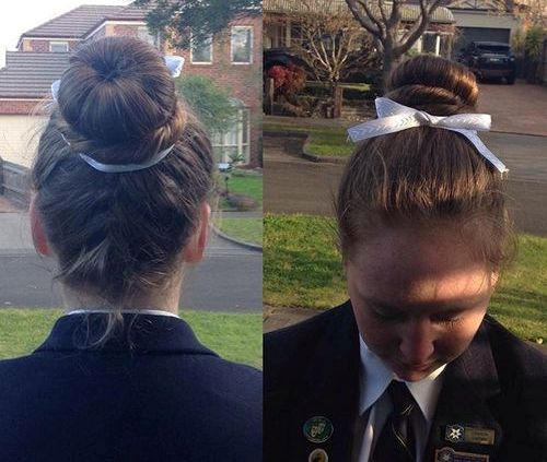 braid into bun back to school hairstyle