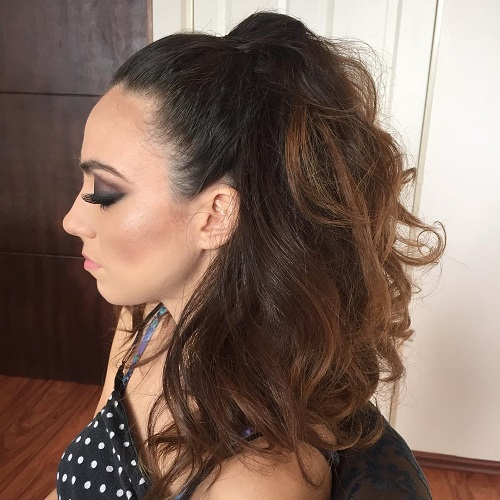 Half Ponytail For Thick Hair
