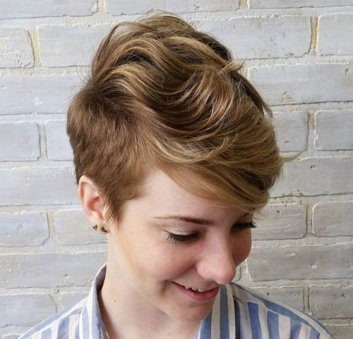 Pixie Hairstyles celebrity pixie haircut photo gallery Short Sides Long Top Pixie For Wavy Hair