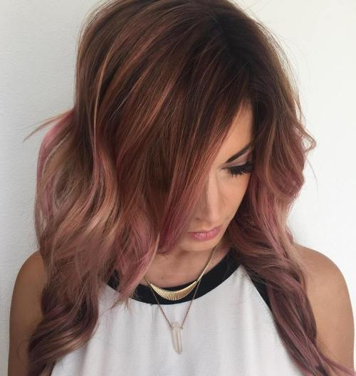 Washed Out Pink Balayage Highlights