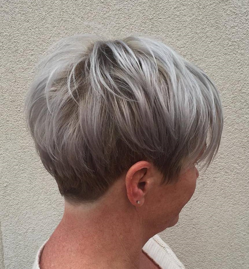 Gray Pixie For Older Women