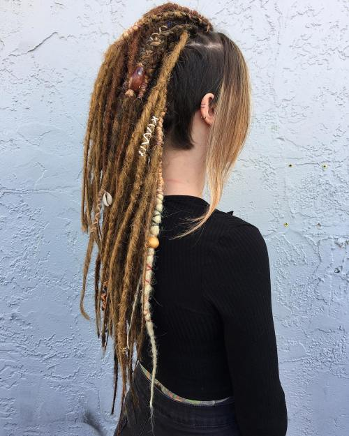 Long Dreadlocks With Short Sides And Back