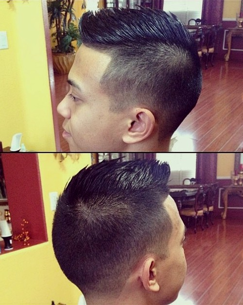 Asian spiky haircut for men