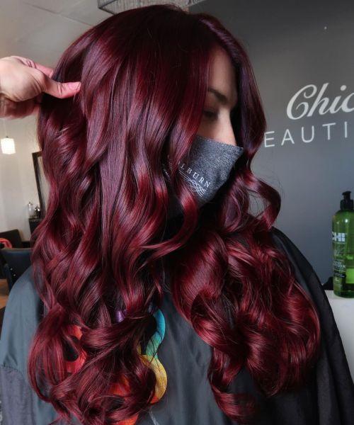 Burgundy Hair Color for Fall 2021