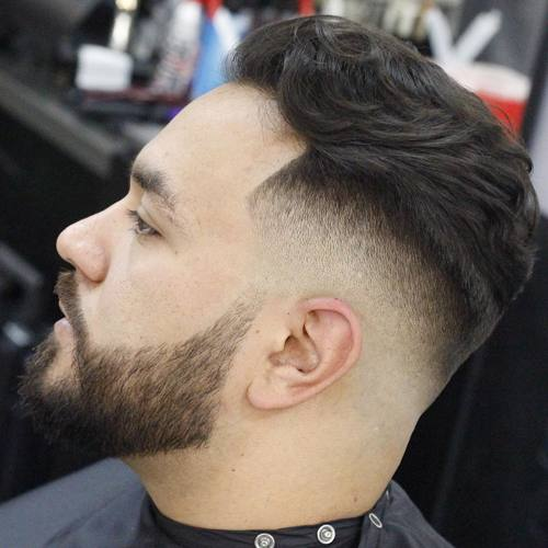 long top taper fade