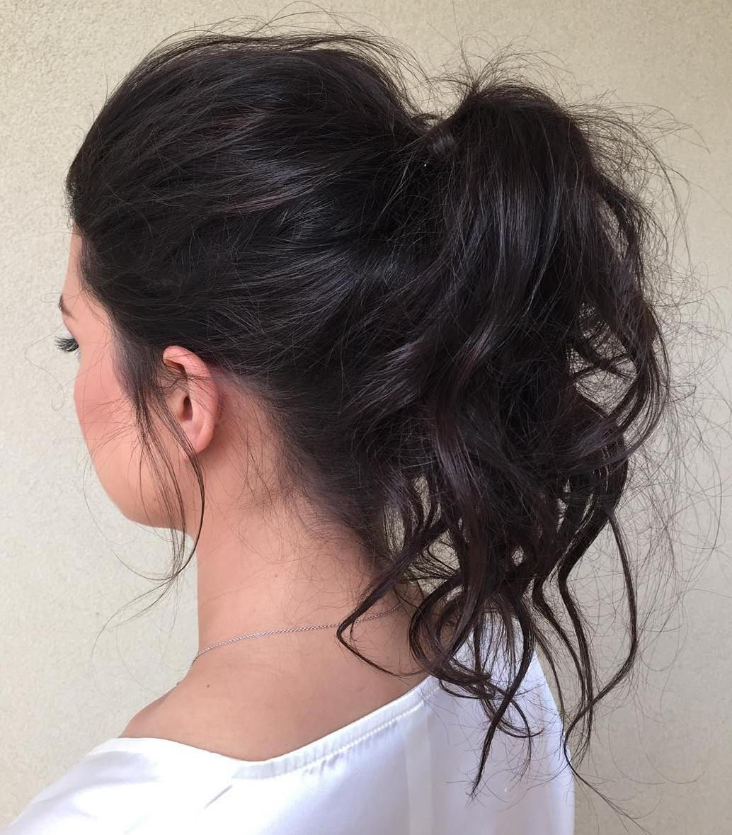 Messy Ponytail For Medium Hair