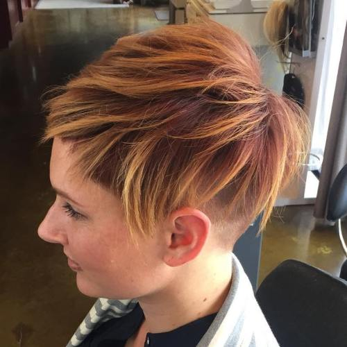 40 on trend balayage short hair looks womens short undercut with highlights pmusecretfo Images