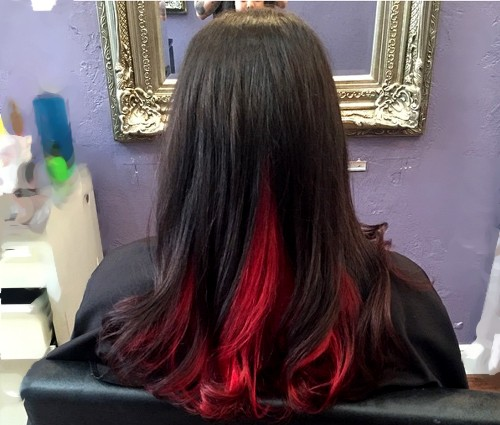 Red hair color inspiration two toned hair color urmus Images