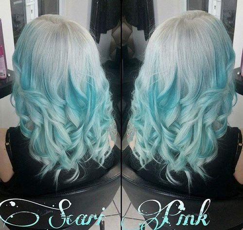 20 pastel blue hair color ideas you have to try silver to turquoise blue ombre pmusecretfo Choice Image