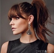 great ponytails with bangs inspiration