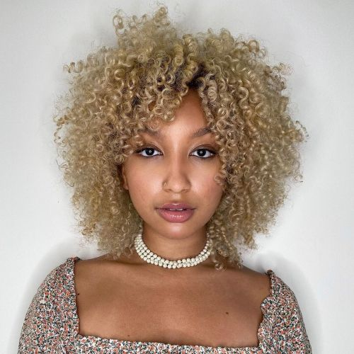 Natural Hair Colored Creamy Blonde