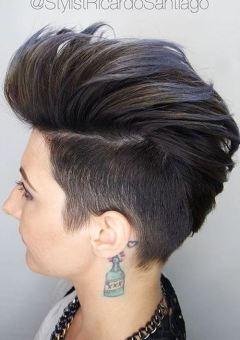 voluminous faux hawk for short hair