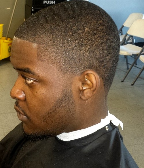 men's extra short black haircut