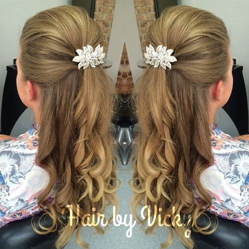 formal half pony hairstyle