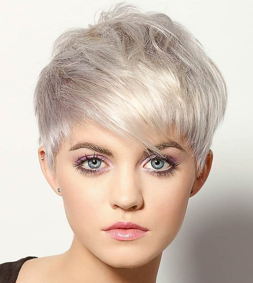 Messy Silver Pixie