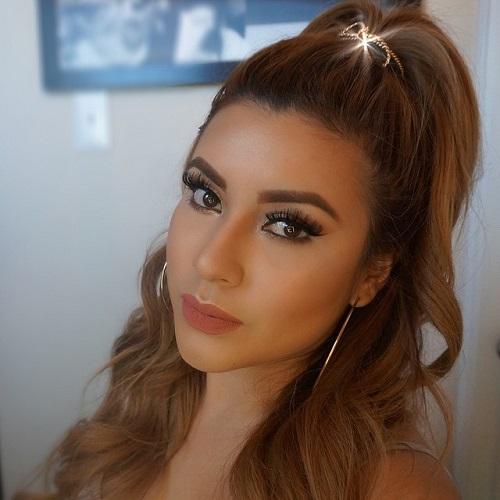Curly brunette mature