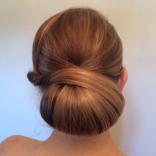 formal low chignon