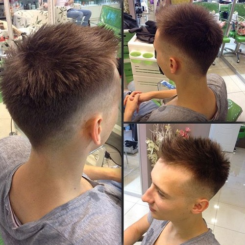 Short Spiky Tapered Haircut For Guys