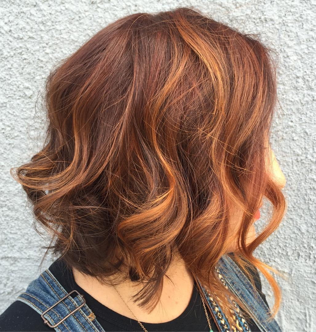 60 auburn hair colors to emphasize your individuality copper highlights for auburn bob pmusecretfo Choice Image