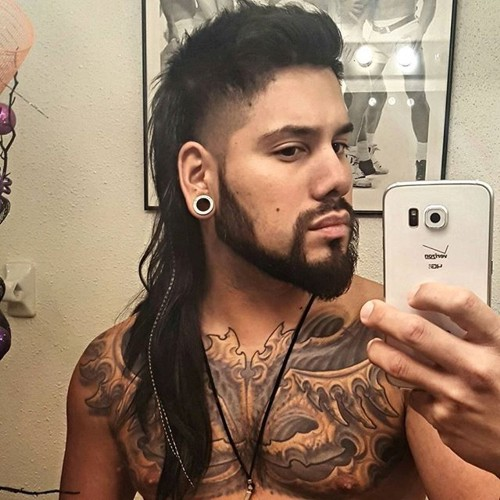 mullet with shaved temples for long hair