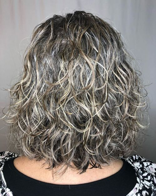 Wavy Perm For Gray Hair