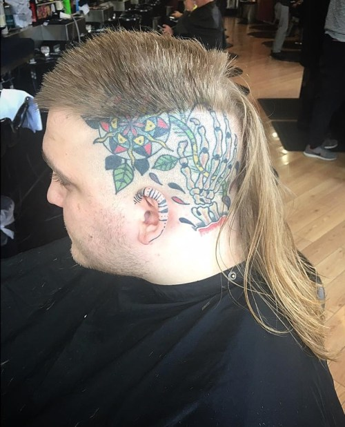 mullet with shaved sides