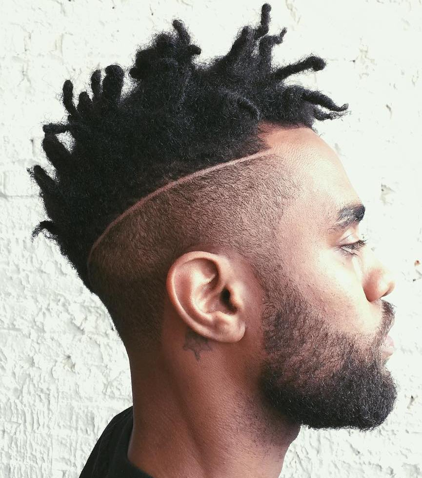 Short Mohawk Dreads With Undershave