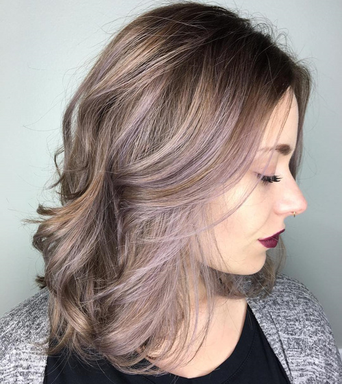 Wondrous The Prettiest Pastel Purple Hair Ideas Short Hairstyles Gunalazisus