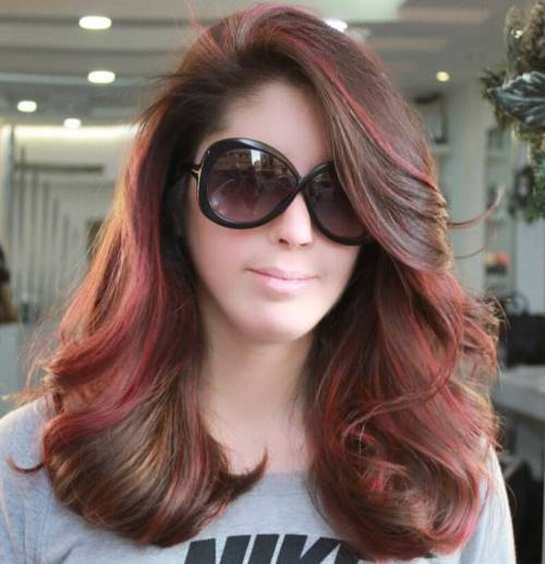 40 unique ways to make your chestnut brown hair pop brown hair with burgundy highlights pmusecretfo Gallery
