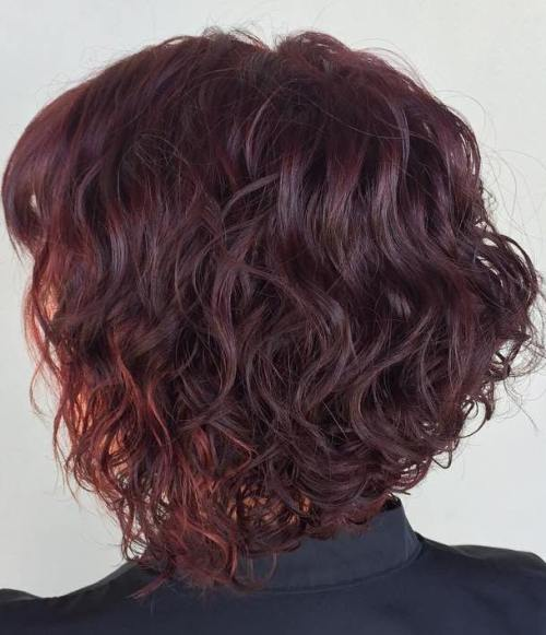 40 gorgeous perms looks say hello to your future curls curly burgundy bob urmus Choice Image
