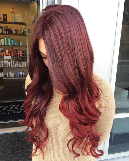 60 auburn hair colors to emphasize your individuality long burgundy to auburn sombre hair pmusecretfo Image collections
