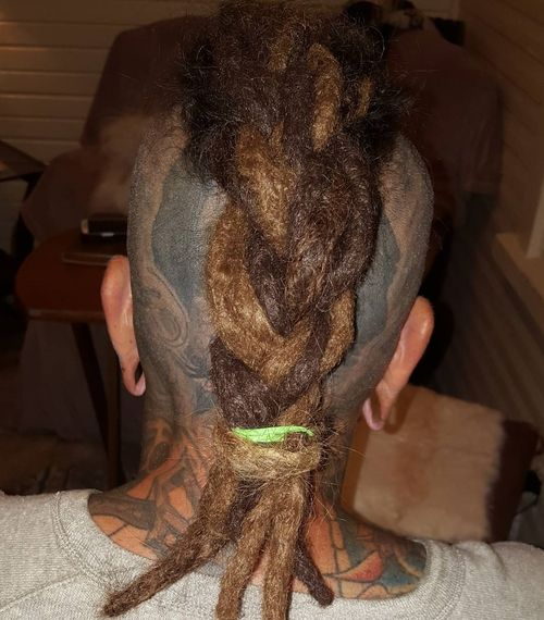 men's mohawk with dreadlocks