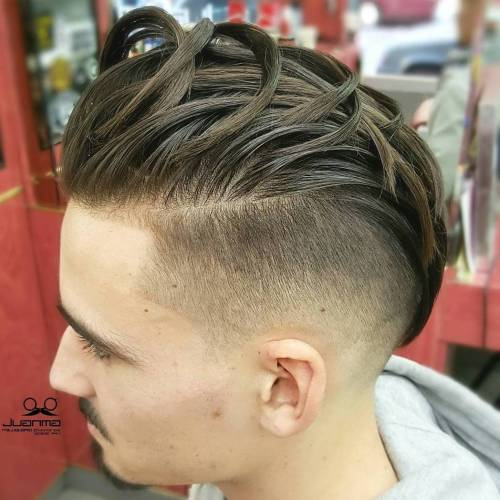 Slicked Back Undercut For Men