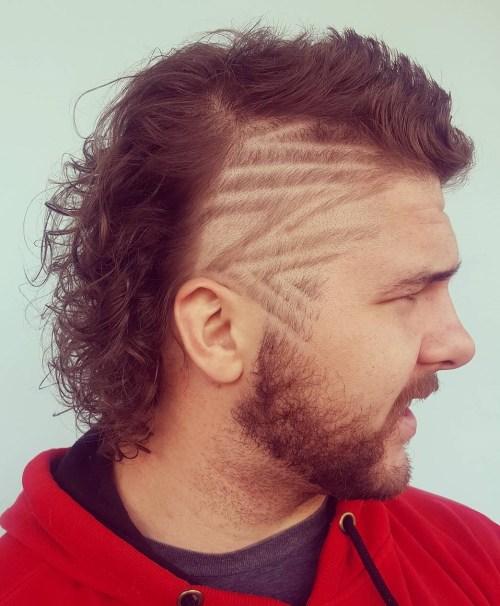 men's short spiky fauxhawk with V-cut nape