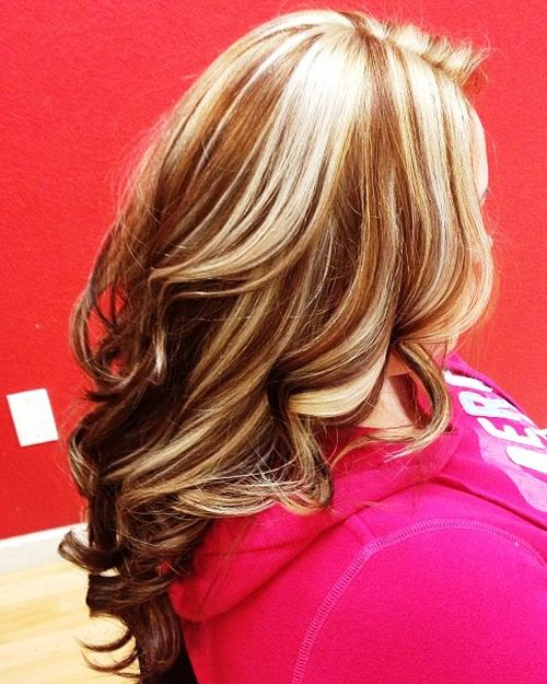 20 best hair color ideas in the world of chunky highlights caramel hair with blonde highlights pmusecretfo Choice Image