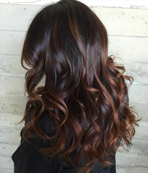 Brown Hair With Reddish Highlights