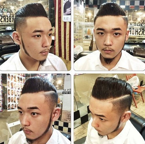Asian pompadour hairstyle for men