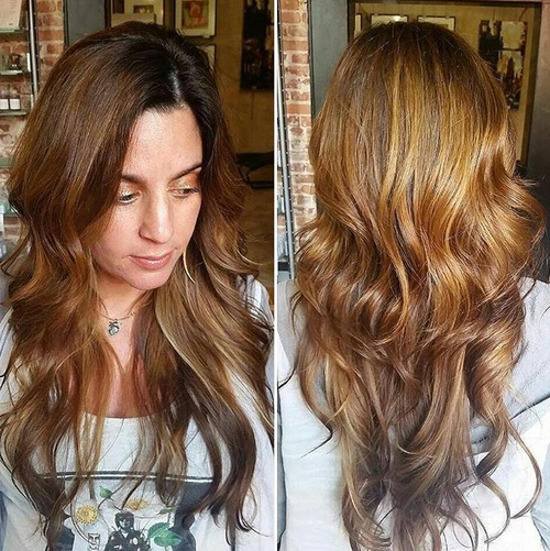 4 most exciting shades of brown hair auburn hair with golden blonde highlights pmusecretfo Image collections